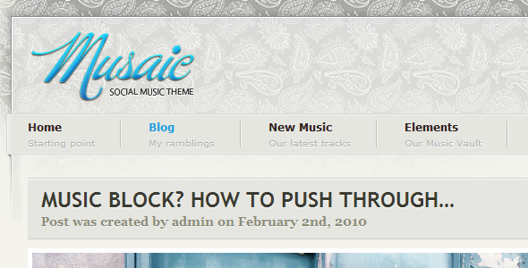 Musaic - Music Inspired WordPress Theme