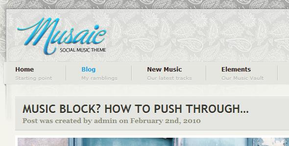 Musaic - Music Inspired WordPress Theme