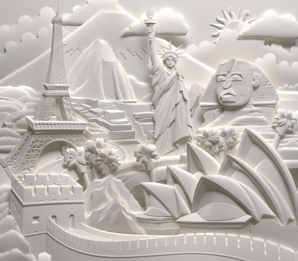 Amazingly Cool Paper Art Designs - Amazing artist carves beautiful designs paper
