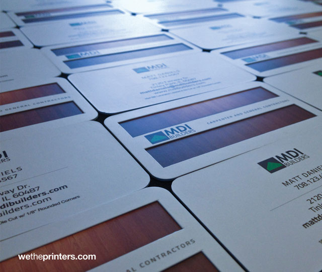 MDI Builders - 16p Silk Die-Cut Layered Business Card