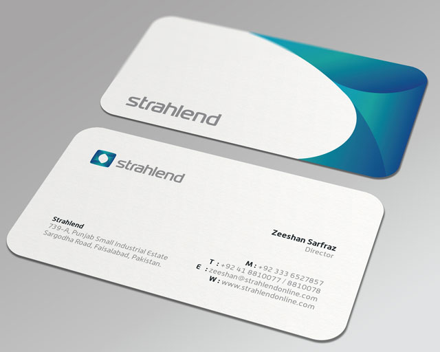 20 Cool Rounded Corner Business Cards Web Graphic Design Bashooka