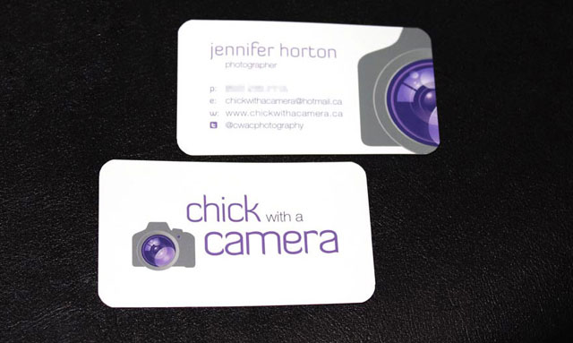 Chick with a Camera Business Cards