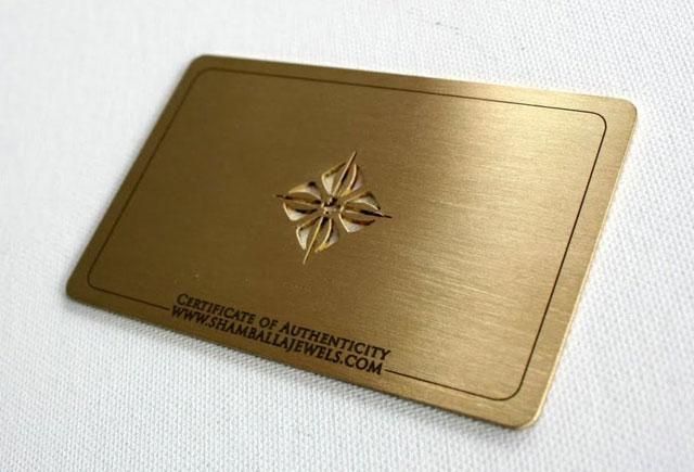 Brass business cards