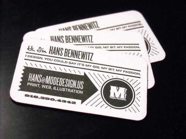Mode Design business cards