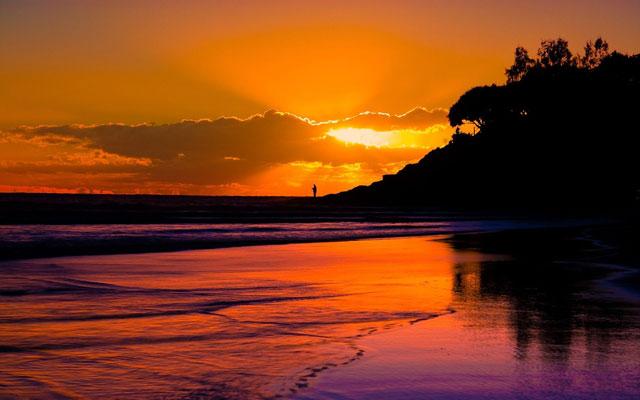 Watching Sunset Wallpaper