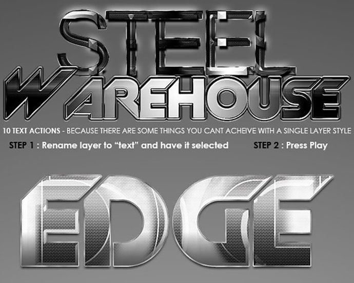 Steel Warehouse - Text Actions.