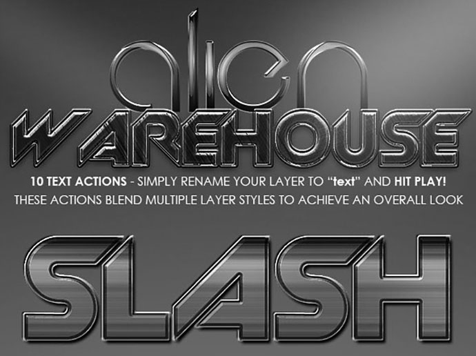 Alien Warehouse - Text Actions.