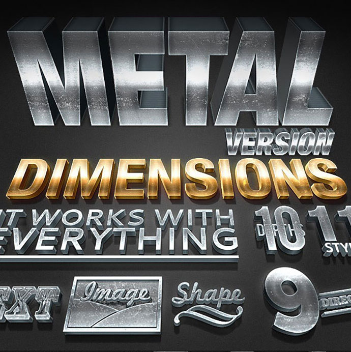 Dimensions Metal Version - 3D Generator Action