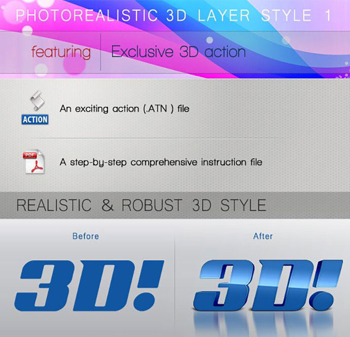 PHOTOREALISTIC 3D LAYER STYLE 1