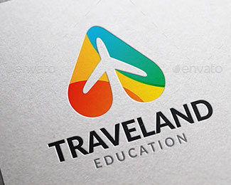 Travel land logo template