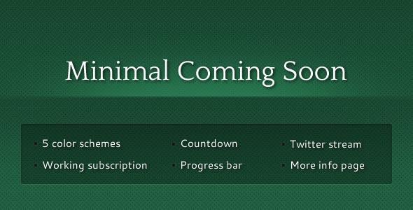Minimal Coming Soon
