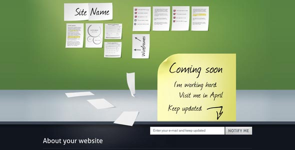 40 html under construction coming soon templates web for Simple under construction html template