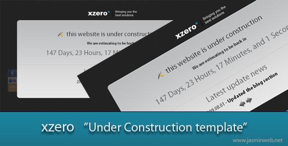Xzero Under Construction HTML Page