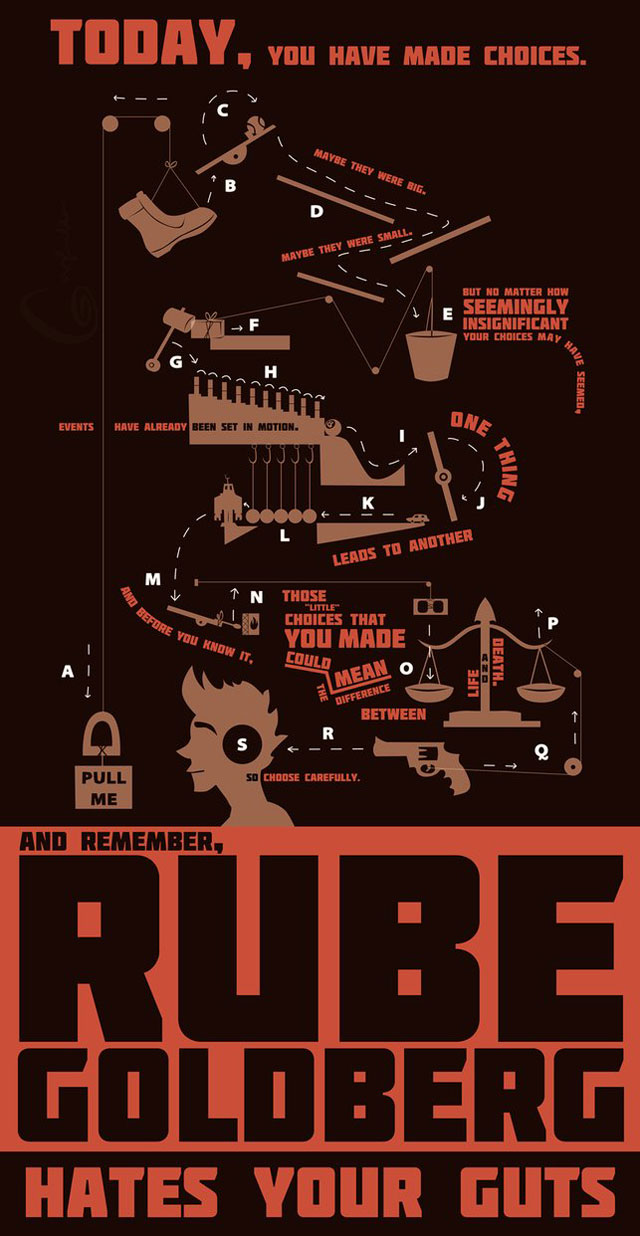 RUBE GOLDBERG HATES YOUR GUTS