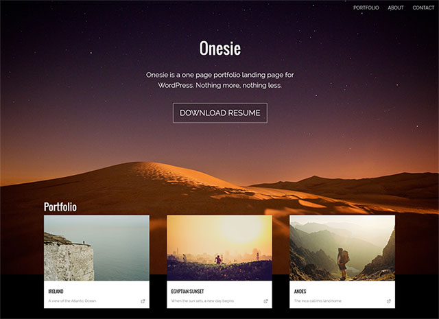 Onesie-wordpress