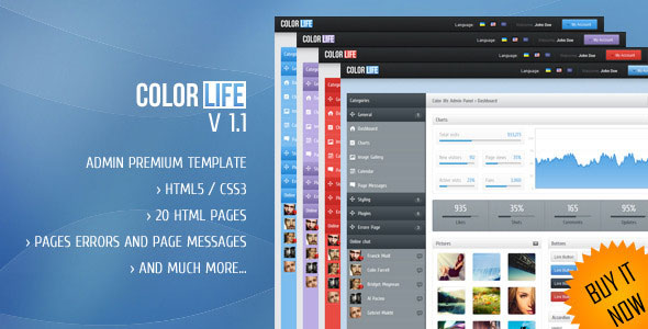 Color life - Premium Admin Template