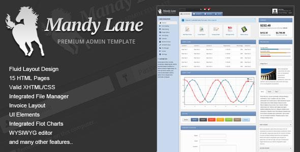 Mandy Lane Premium Admin Template