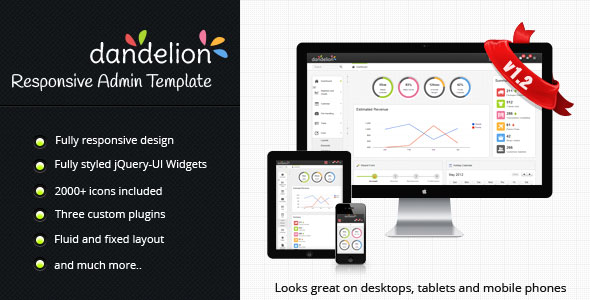 Dandelion Admin - Responsive Admin Template