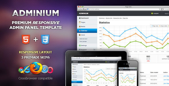 Adminium - Modern Admin Panel Interface