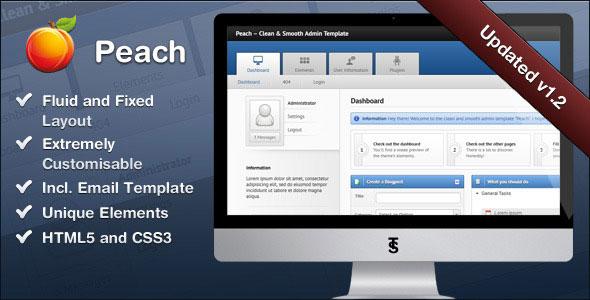 Peach – Clean & Smooth Admin Template