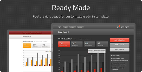 Ready Made Admin - Full Featured Admin Theme