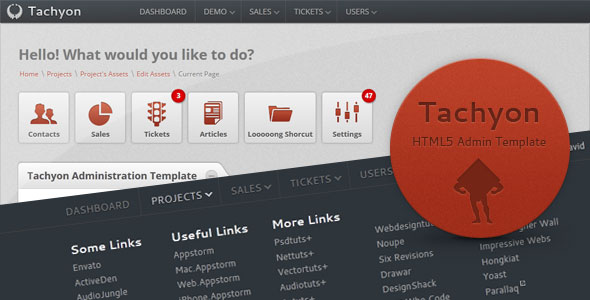 Tachyon HTML5 Admin Template