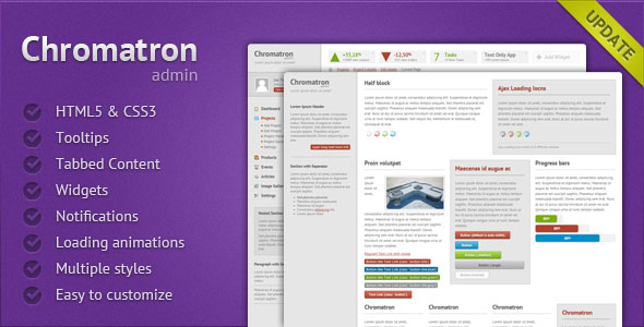 Chromatron HTML5 Admin Backend