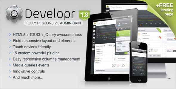 Developr - Fully Responsive Admin Skin