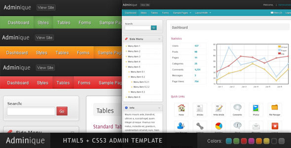 Adminique - Admin Template