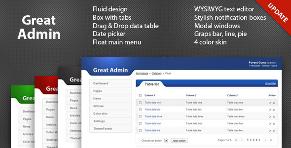 Great Admin theme