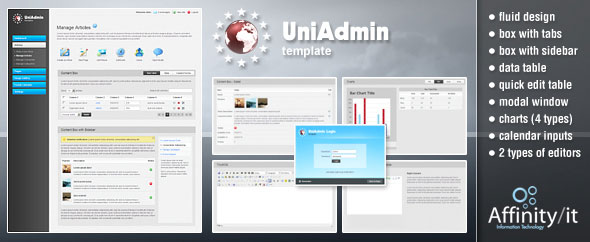 UniAdmin - Flexible, Universal & Easy to implement