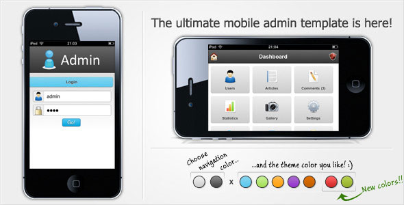 jquery mobile login template - 65 html admin panel templates web graphic design