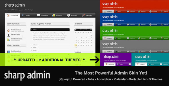 Sharp Admin Template