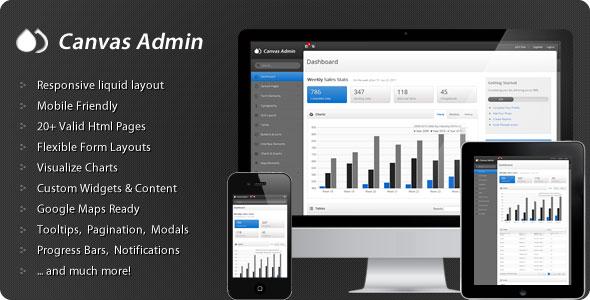 Canvas Admin - Premium responsive admin template