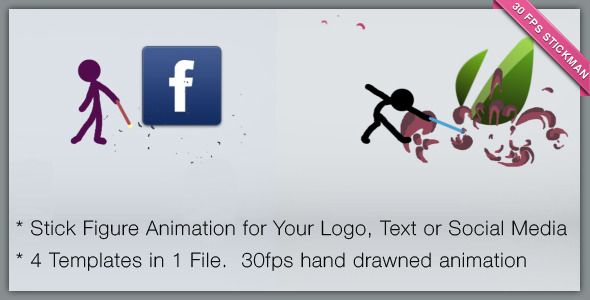 Cartoon Character Presents Logo Or Social Network This After Effects Template