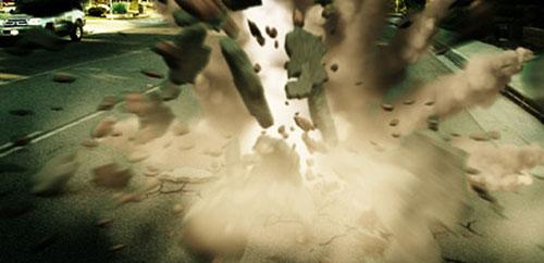 3D Debris Meteor Crash smoke trail