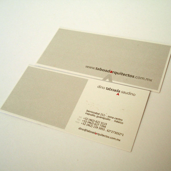 taboadarquitectos business card - Architect Business Card