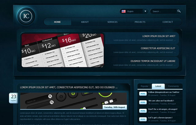 Freebie: Creative Gaming an Astonishing WordPress PSD Template