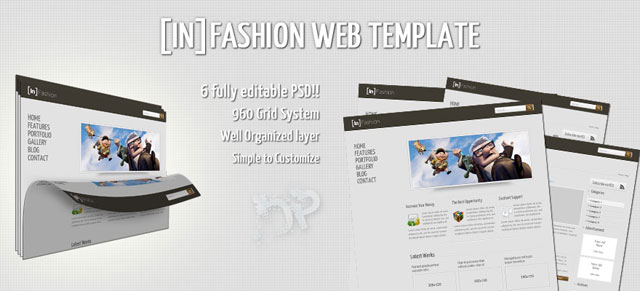 InFashion Web PSD Template