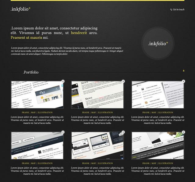 Inkfolio: Professional Portfolio Template [Free PSD]
