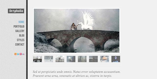 Dropholio – Free Homepage PSD