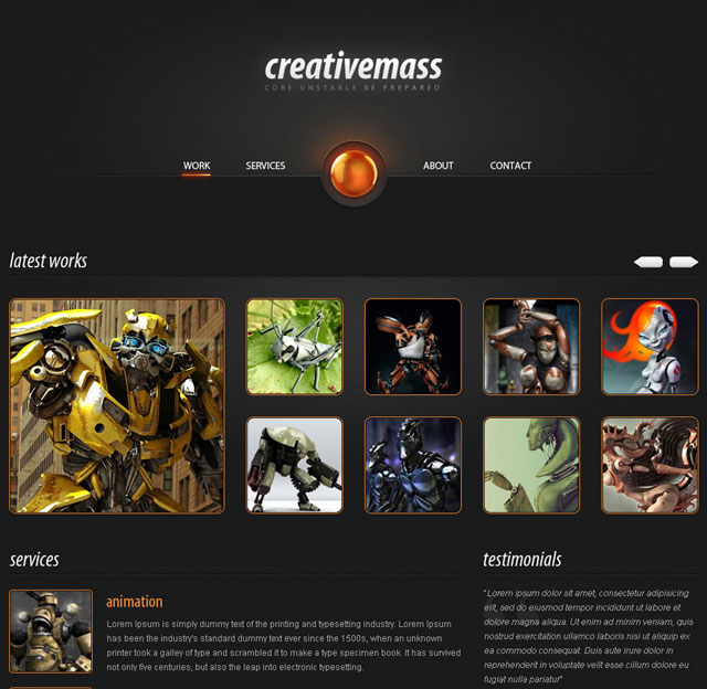 """Creative Mass a Stunning One-Paged Website Template"