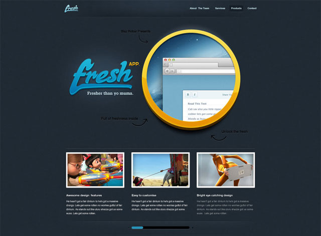 Fresh App – Free Website Desgin PSD