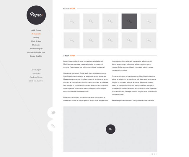 Paper – Clean, crisp blog design