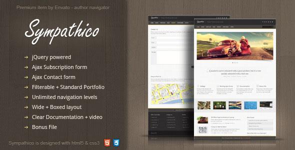 Sympathico - multipurpose site template