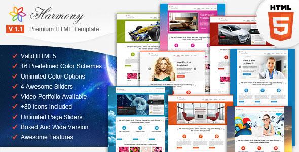 Harmony - Multipurpose HTML5 Template