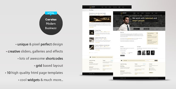 Corvius - Modern Business HTML Theme