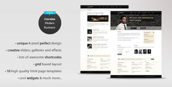 Corvius - Modern Business HTML Theme