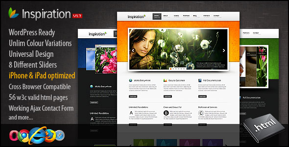 Inspiration Premium xHTML/CSS Template