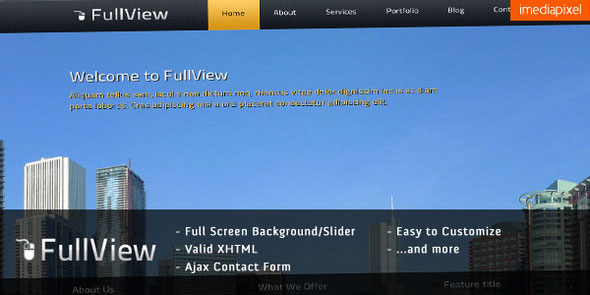 fullView - Fullscreen Background Slider Template
